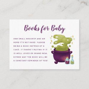 Halloween Baby Is Brewing Baby Shower Book Request Enclosure Card