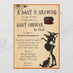 Halloween Baby is Brewing Shower by Mail Witch