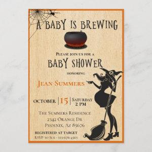 Halloween Baby is Brewing Witch Baby Shower Fall