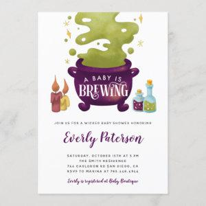 Halloween Baby Is Brewing Witch Baby Shower