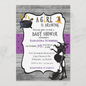 Halloween Girl is Brewing Witch Baby Shower