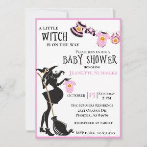 Halloween Pregnant Witch Pink Girl Baby