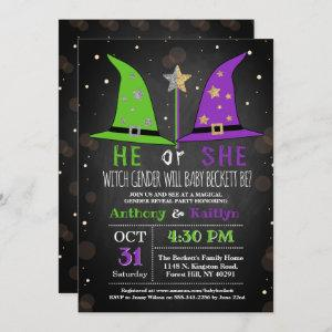 Halloween Witch Gender Reveal Party