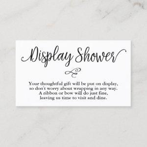 Hand Lettered Script Baby Shower Gift Display Card