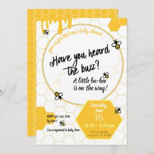 Have you heard the Buzz? Baby Shower Bee Theme