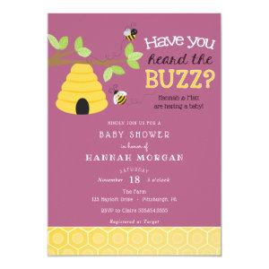 Have you Heard the Buzz? Bee Baby Shower Invitation