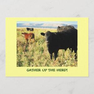 Have You Herd? Cattle Calves Western Party Shower