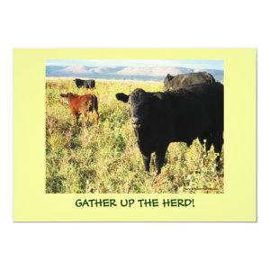 Have You Herd? Cattle Calves Western Party Shower Invitation