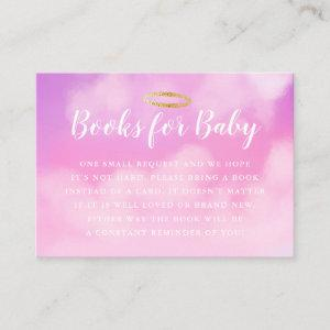 Heaven Sent Baby Shower Book Request Pink Enclosure Card