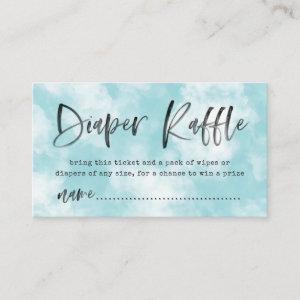 Heaven Sent Diaper Raffle Ticket | Blue Enclosure Card