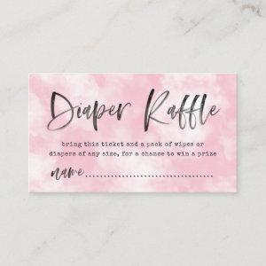 Heaven Sent Diaper Raffle Ticket | Pink Enclosure Card