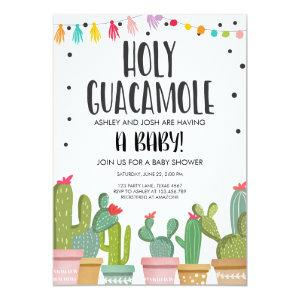 Holy Guacamole Fiesta Baby Shower Invitation