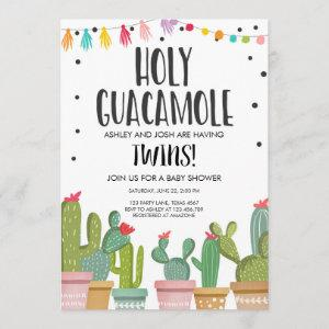 Holy Guacamole Fiesta Twins Baby Shower Invitation