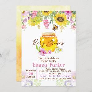 Honey Bumble Bee Baby Shower Invitation