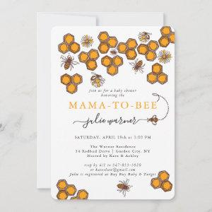 Honeycomb Bumble Bee Baby Shower Invitation