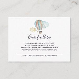 Hot Air Balloon Party in Books for Baby Enclosure Card