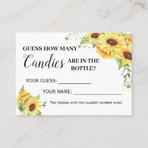 How many candies game english spanish shower card
