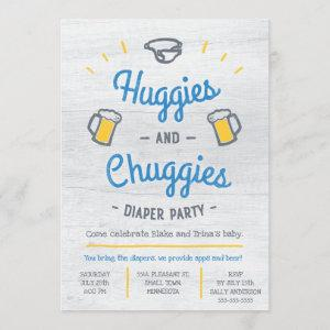Huggies and Chuggies Diaper Party Invitation