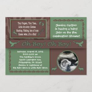 Hunting & Fishing Baby Shower Invitations