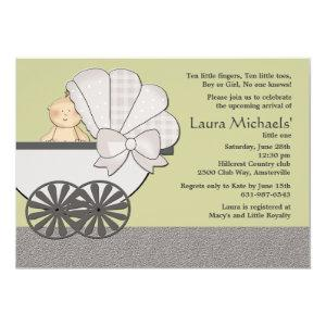 In Suspense (You Pick Background Color)Baby Shower Invitation