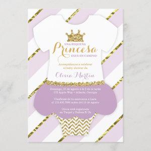 Invitación de Baby Shower para una Princes Invitation