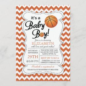 It's a Baby Boy Basketball Baby Shower Invitation