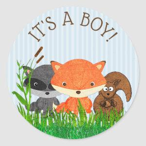 Its a Boy Forest Animals Woodland Creature Sticker