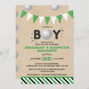 It's A Boy! Golf Themed Co-ed Baby Shower