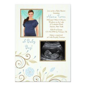 It's A Boy Photo Baby Shower Invitation