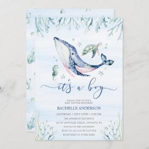 It's a Boy Under the Sea Baby Shower Invitation