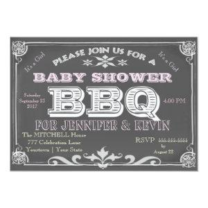 It's a Girl Baby Shower Bar B Que Invitation