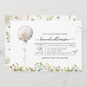 It's a Girl Balloon | Baby Shower Invitation