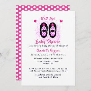 It's A Girl Cute Shoes Baby Shower