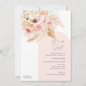 Its a Girl Modern Arch Boho Floral Baby Shower