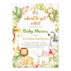 It's About To Get Wild Baby Shower Invitation