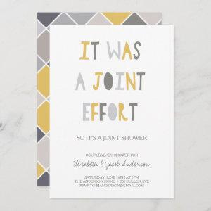 Joint Effort | Couples Baby Shower Invitation