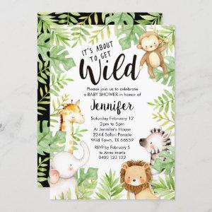 Jungle Animals Baby Shower Invitation Safari Baby