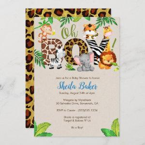 Jungle Baby Shower Invitation - Boy Baby Shower