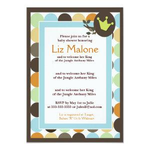 KING in the Jungle 5x7 Baby Shower invitations