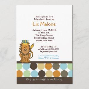 King of the Jungle 5x7 Baby Shower