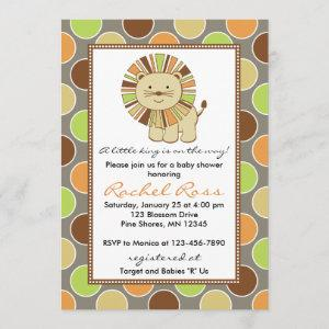 King of the Jungle Baby Shower Invitations │ Taupe