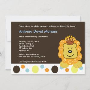 King of the Jungle Lion 5x7 Baby Shower
