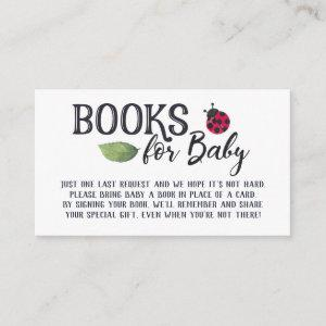 Ladybug Books for Baby Enclosure Card