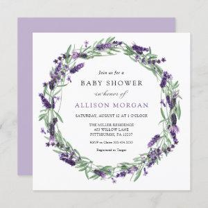 Lavender Baby Shower Invitation