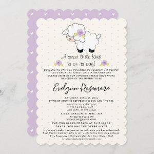 Lavender Lamb Drive By Baby Shower