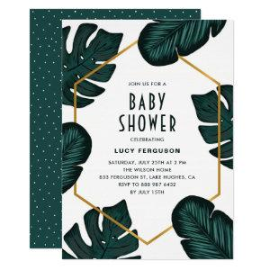 Leaves Frame Tropical Baby Shower Invitation