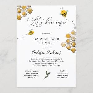 Let's Bee Safe Baby Shower by Mail Invitation