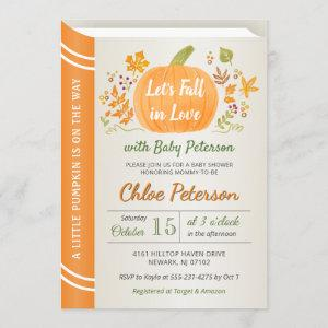 Let's Fall in Love Baby Shower Autumn Sprinkle Invitation