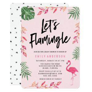 Let's Flamingle | Baby Shower Invitation
