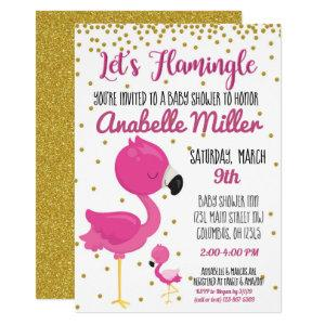 Let's Flamingle Baby Shower Invite